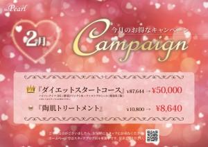Ms.pearl様2月度キャンペーンポスター
